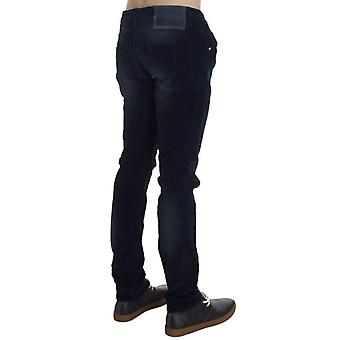 Blue Wash Cotton Stretch Slim Fit Jeans -- SIG3536517