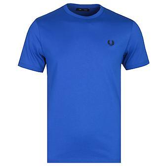 Fred Perry Elektrische blaue Ringer T-Shirt