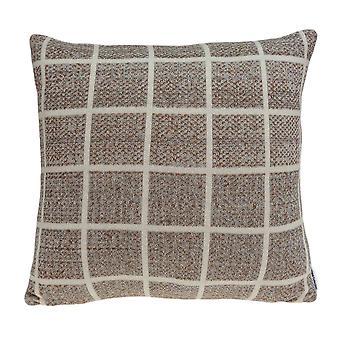 Super Soft Square Design Tan Accent Pillow Cover