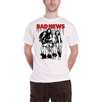 Bad News T Shirt Band new Official Mens White