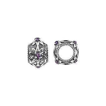 Storywheels Argent et Amethyst Blossom Charm S439A