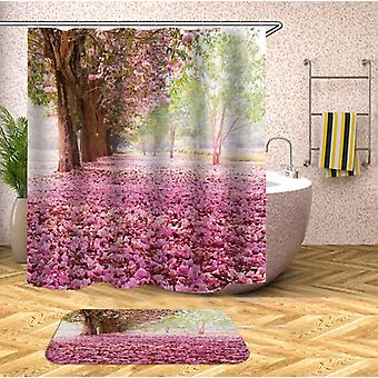 Pink Trees Avenue Shower Curtain