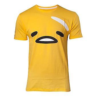 Gudetama The Face Mens T-Shirt Médio Amarelo (TS750565GTM-M)
