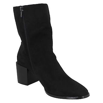 Spot On Womens/Ladies Chunky Blocked Heel Ankle Boots