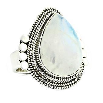 Ring 925 Silber mit Regenbogen Mondstein 55 mm / Ø 17.5 mm (KLE-RI-093-04-(55))