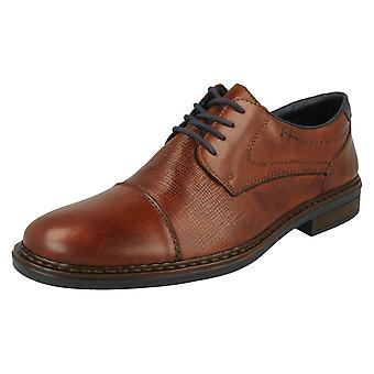 Mens Rieker bred montering Lace up sko 17618