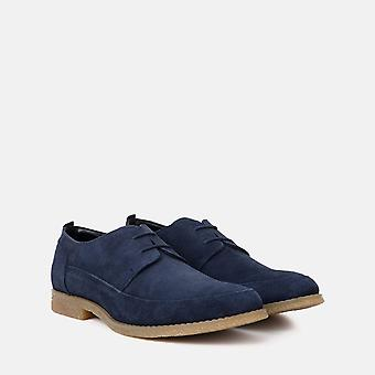 Gobi navy suede derby shoe