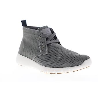 GBX Amaro  Mens Gray Nubuck Leather Low Top Lifestyle Sneakers Shoes