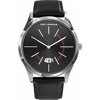Ted Lapidus 5132502 - watch leather black man black dial steel case