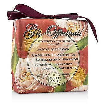 Gli Officinali Soap - Camellia & Cinnamon - Purifying & Sweetening - 200g/7oz