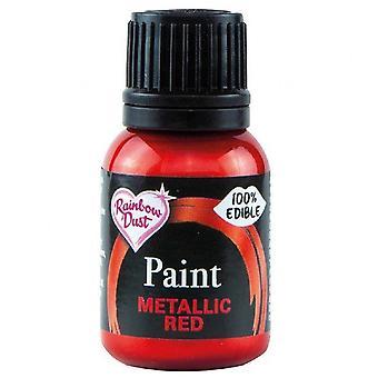 Regenbogen Staub Metallic Food Paint 25ml Metallic Rot