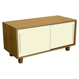 Fusion Living Modern Retro Oak e Vanilla TV Table