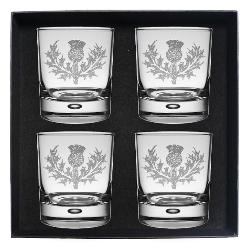 Art Pewter Macpherson Clan Crest Whisky Glass Set Of 4