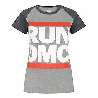 Run DMC Logo Women's Raglan T-Shirt