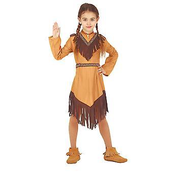 Filles Indien Amérindien sinodé américain Costume de robe de fantaisie