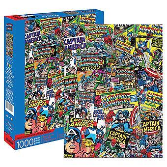 Marvel - kaptajn Amerika collage 1000pc puslespil