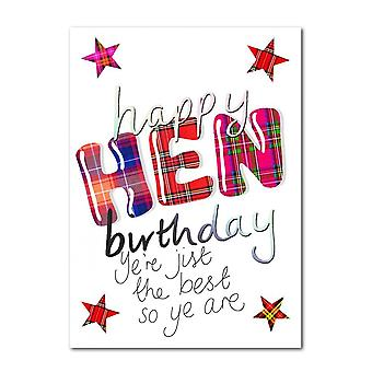 Embroidered Originals Happy Birthday Hen Yere Jist The Best  Scottish Card