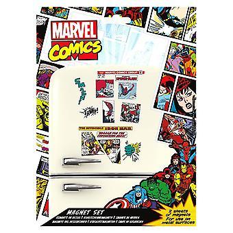 Marvel Comics Retro Magnet Set