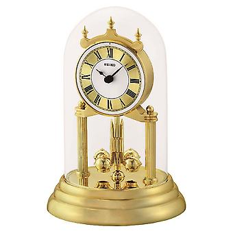 Jahrestag der Seiko Uhr mit rotierenden Pendel Gold (Modell-Nr. QHN006G)