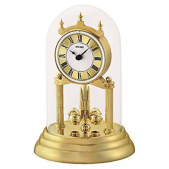 Seiko Anniversary Clock with Rotating Pendulum Gold (Model No. QHN006G)