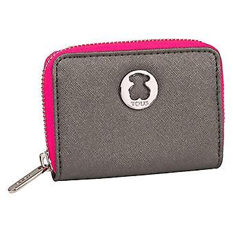 TOUS Monedero Dubai Saffiano - Mångfärgad kvinnors plånbok (Tri / Plata)