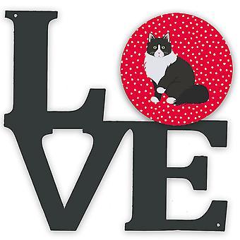 Carolines Treasures  CK5788WALV Siberian Forest Cat Love Metal Wall Artwork LOVE