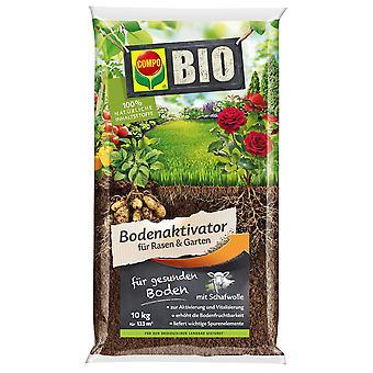 COMPO BIO Maa-aktivaattori nurmikolle ja puutarhalle, 10 kg