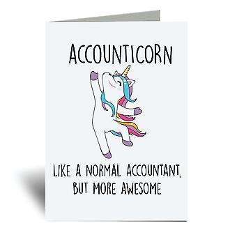 Accounticorn A6 Gratulasjonskort