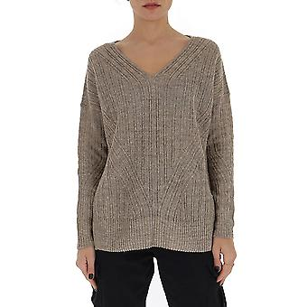 Gentry Portofino D736isg0114 Women's Beige Cotton Sweater