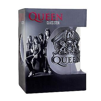 Dronning Crest Glas Stein
