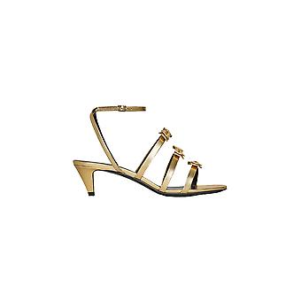 Céline 33309316235of Women's Gold Leather Sandalen