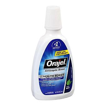 Orajel antiseptic mouth sore rinse, 16 oz