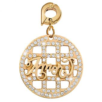 Nikki Lissoni Nikki Lissoni 'Amor' - Large Gold Plated Dangle Charm D1108GL