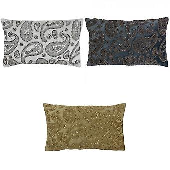 Riva Home Cochin Beaded Paisley Polyester Filled Cushion