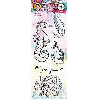 Studio Light Stamp Whimsical Swimmers Art By Marlene 3.0 nr.34 STAMPBM34