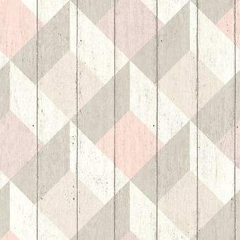Galerie Wallcoverings Galerie Unplugged Wood Panel Effect Triangle Pattern Textured Vinyl Wallpaper UN3204