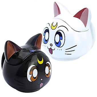 Sailor Moon Luna & Artemis 3D Sculpted Collectors Mug Set