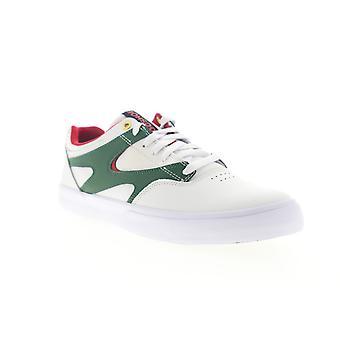 DC Kalis Vulc Mens White Leather Skate Sneakers Schoenen