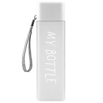 Quadratische Wasserflasche - Weiß