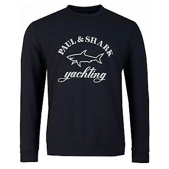 Paul And Shark Reflective Large Logo Sweatshirt