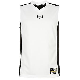 Everlast Mens Basketball Jersey V pescoço sem mangas treinamento esportivo Top Atlético