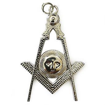Freimaurer Kragen Silber Juwel - Senior Diakon