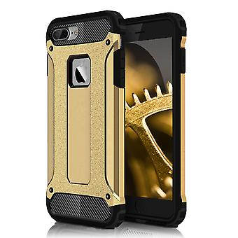 Shell für Apple iPhone 7 Plus 7 + Hard Armor Protection Gold TPU Fall