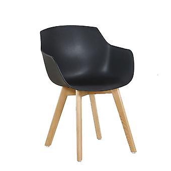 Wood4you - Clover black eetkamerstoel - Pariso - Laag - Zithoogte: 42 cm - 2 stuks