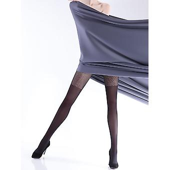 Giulia Rufina Net Top Over The Knee Tights - Hosiery Outlet