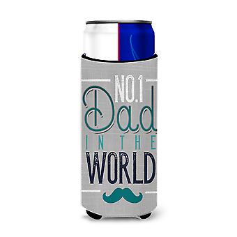 No 1 Dad in the World Michelob Ultra Hugger for slim cans