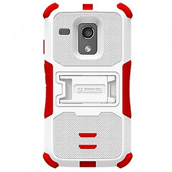 MOTOROLA MOTO G TRISHIELD CASE - WHITE/RED