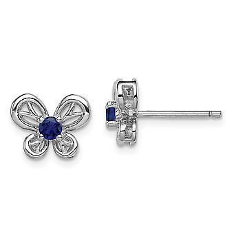 925 plata esterlina pulido abierto post post pendientes rodiados creados pendientes de joyería regalos de joyería para las mujeres