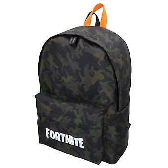 Fortnite naamiointi tummanvihreä koulu laukku reppu 41cm