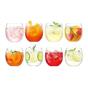 LSA International Set Of 8 Balloon Tumblers